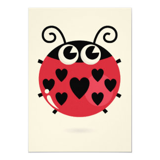 Creative invitation with Little Red bee