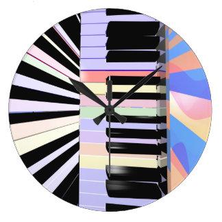 Creative Keyboard Colors Wallclock