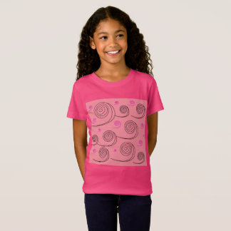 CREATIVE KIDS TSHIRT PINK WITH WAVES