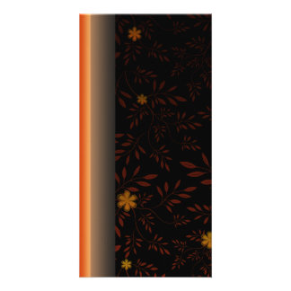 Creative light orange blossom and floral photo cards