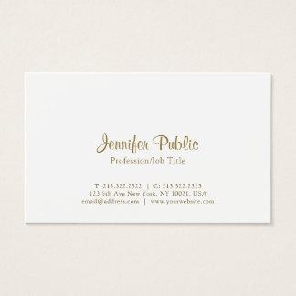Creative Modern Elegant White Simple Business Card