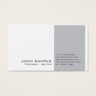 Creative Modern Professional Grey White Plain Business Card