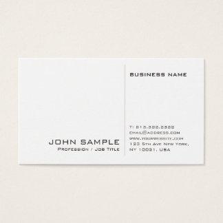 Creative Modern Professional White Simple Plain Business Card
