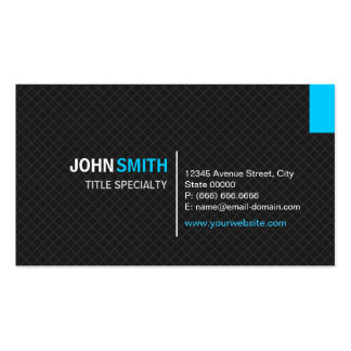 Creative Modern Twill Grid - Black and Sky Blue Pack Of Standard Business Cards