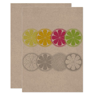 Creative paper greeting with Citruses Card