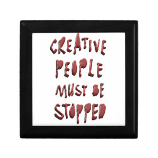 CREATIVE PEOPLE MUST BE STOPPED GIFT BOX