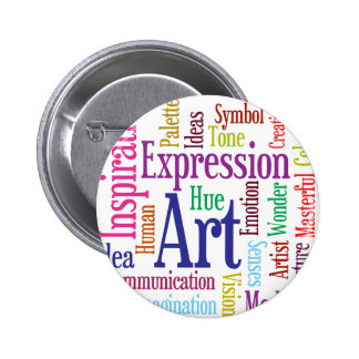 Creative Person's Art and Inspiration Word Cloud 6 Cm Round Badge
