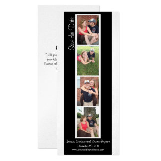 Creative Photo Booth Save the Date 10 Cm X 24 Cm Invitation Card