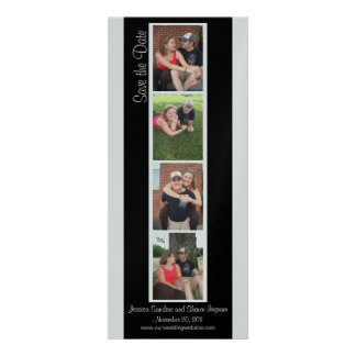 Creative Photo Booth Save the Date Personalized Invites