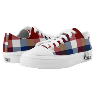 Creative Plaid Mixes Low Tops