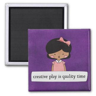 Creative Play By Linda Tieu.jpg Square Magnet