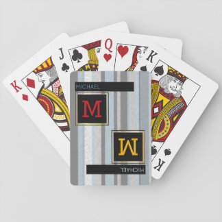 creative playing cards / monogram (name + initial)