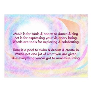 Creative Postcard 1d - Art & Motivational Wording