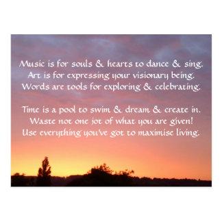 Creative Postcard 1g - Art & Motivational Wording