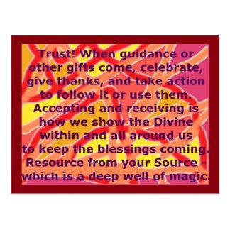 Creative Postcard 3 Trust Magic Well Source Framed