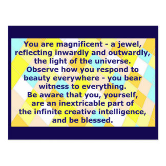 Creative Postcard 7 - You are a magnificent Jewel