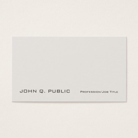 Creative Professional Graceful Classic Colours Business Card