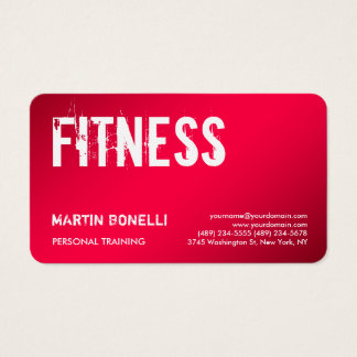 Creative Red Dynamic Personal Trainer Sport Business Card
