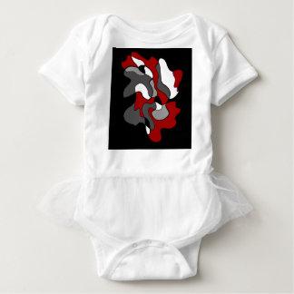 Creative spot - red baby bodysuit