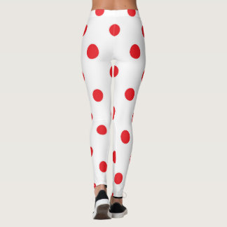 Creative stylish leggings : red and white