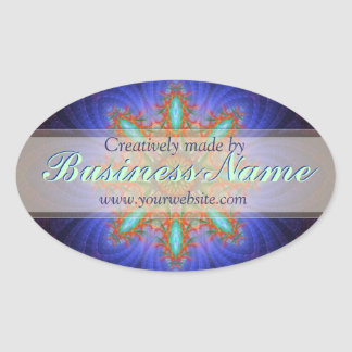 Creatively Made by Fractal Art Product Label Oval Sticker
