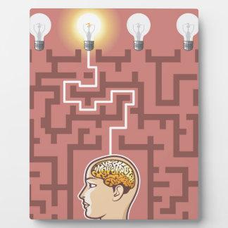 Creativity Brainstorming Passage through Maze Photo Plaque