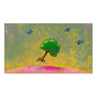 Creativity imagination fun hopeful art flying tree business card template