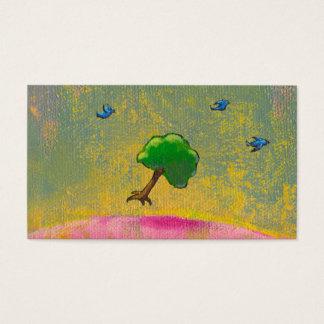 Creativity imagination fun hopeful art flying tree business card