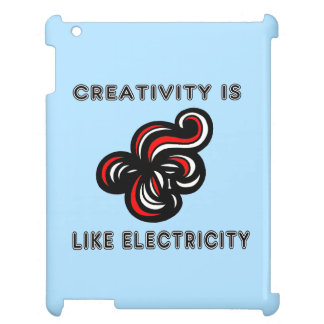 """Creativity is Like Electricity"" 631 Art iPad Case"