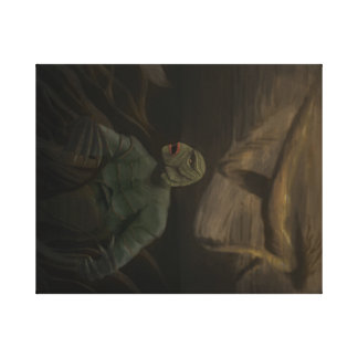 Creature from the Black Lagoon Stretched Canvas Print