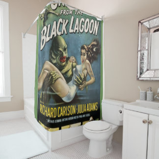 creature from the black lagoon shower curtain