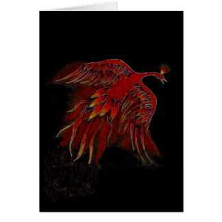 Creature of Fire Blank Greeting Card-vertical Card