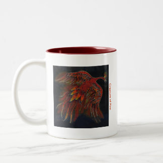 Creature of Fire Two-Tone Coffee Mug