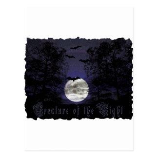 Creature of the Darkest Night Postcard