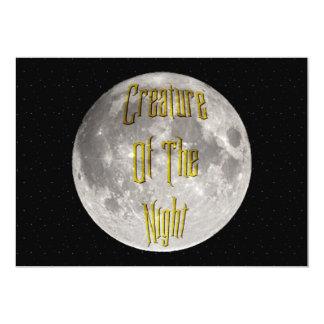 Creature of the Night 13 Cm X 18 Cm Invitation Card