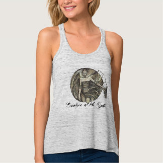 """""""Creature of the Night""""-Flowy Racerback Tank Top"""