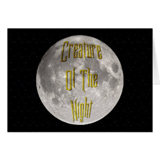 Creature of the Night Greeting Card