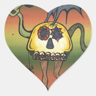 Creature of the Night Heart Sticker