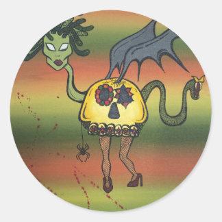 Creature of the Night Round Sticker