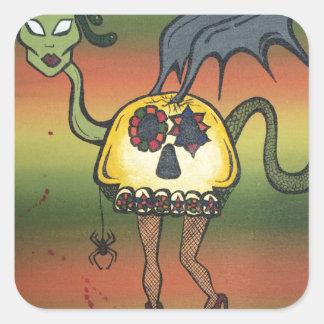 Creature of the Night Square Sticker
