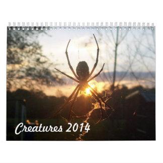 Creatures 2014 wall calendar