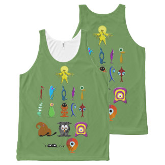 Creatures All-Over Print Tank Top