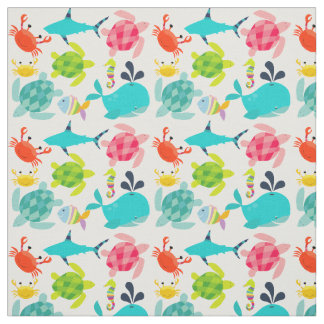 Creatures of the Sea Fabric