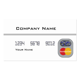 Credit Card (Blank) Pack Of Standard Business Cards
