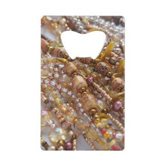 Credit Card Bottle Opener- Earth Tones Beads Print