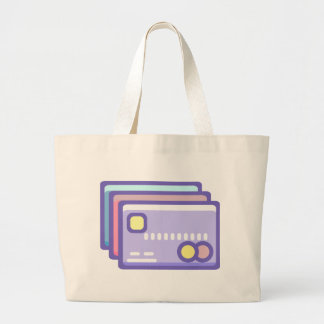 Credit Cards Large Tote Bag