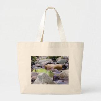creek among stones large tote bag