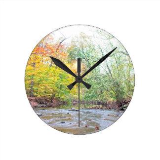 Creek - Fall Round Clock