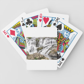 creeks pours over rocks bicycle playing cards