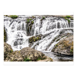 creeks pours over rocks postcard